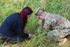 Soldiers of the Minnesota National Guard, Native American Students and Tribal Leaders gathered on Camp Ripley Sept. 20, 2019 to take part in 'Planting for the Future', a cultural and informational exchange to broaden inter-community perspectives and to share the experience of planting native prairie plants.