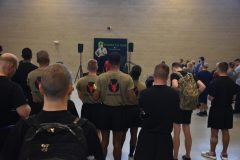 The Minnesota National Guard hosted a Power of One Wellness 5k, September 15, 2019, at the Arden Hills Army Training Site. The event included resources, activities and speaker and comedian Chris Shaw who spoke about resilience. (Minnesota National Guard photo by Master Sgt. Blair Heusdens)